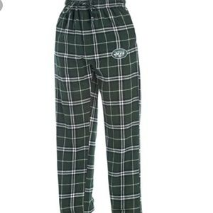 NWT NY JETS men's plaid pants -- sleepwear